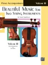Beautiful Music for Two String Instruments, Book III [Piano Acc.]