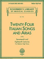 24 Italian Songs & Arias of the 17th & 18th Centuries (Book)